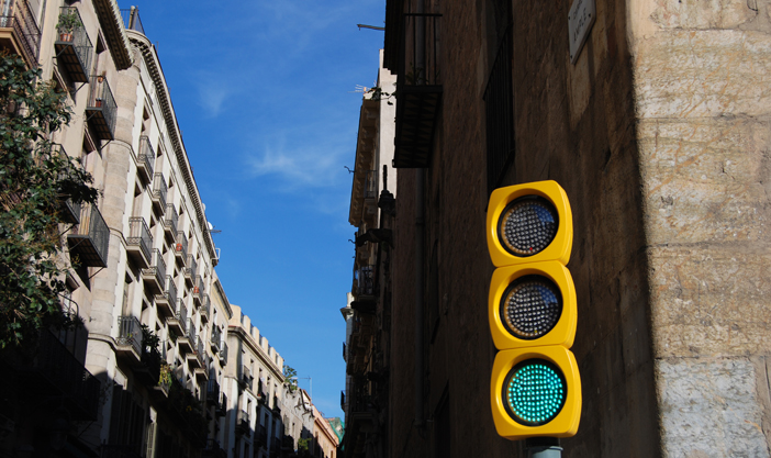 Pla Traffic light located in Barcelona