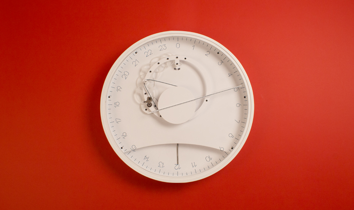 Front view of Slowclock wall clock