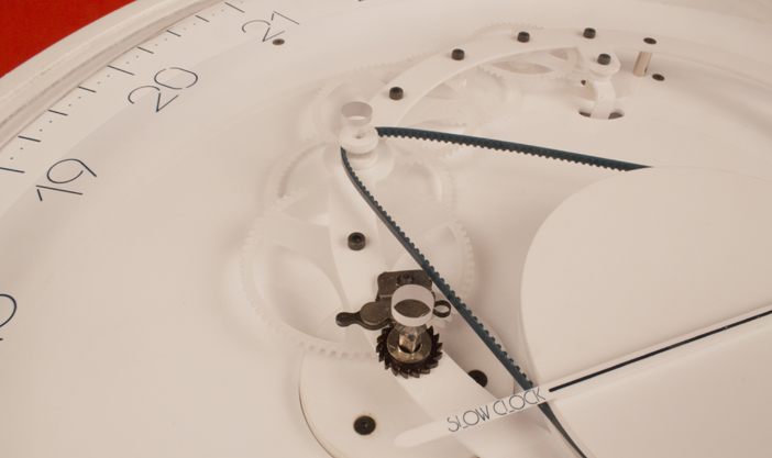 View of the machinery designed and developed for Slowclock wall clock