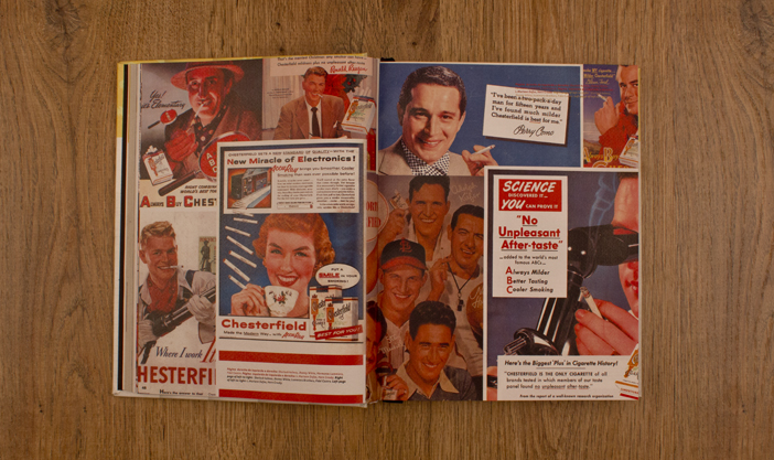 Layout design for 50s ads page