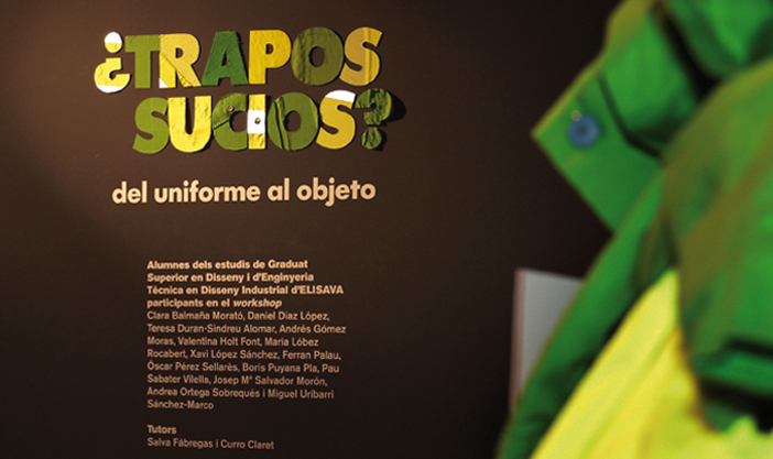 "Introduction to the exhibition ""Dirty rags? From uniform to object"", shown in Elisava"